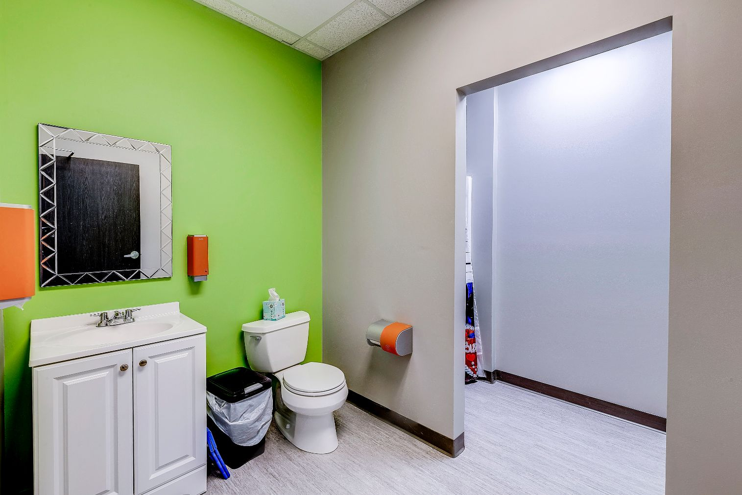 Indiana ABA Therapy Bathroom with no door